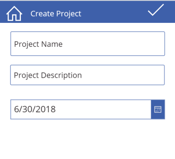 PowerApp-CreateProject